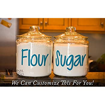 Amazon.com: Kitchen Canister Decals, Flour, Sugar, Coffee