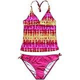 iEFiEL Kids Girls Tankini Bikini 2 Pieces Swimwear Swimming Bathing Suit Set Beach Holiday