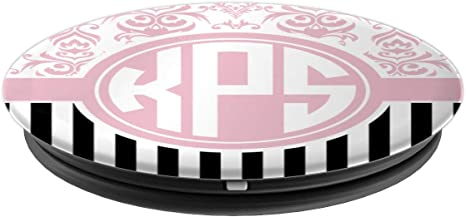 Amazon Com Kps Monogram Gift Pink Damask Initials Kps Or Ksp Popsockets Grip And Stand For Phones And Tablets