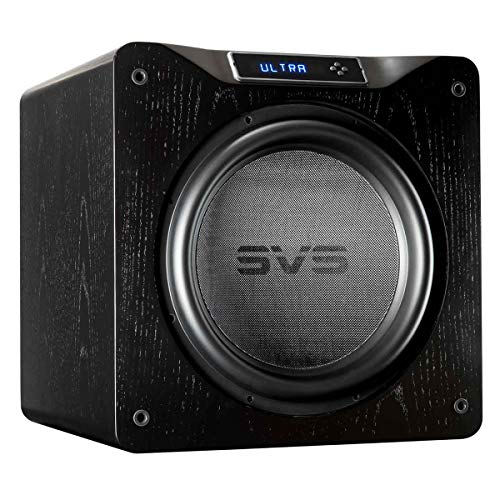 SVS SB16-Ultra Subwoofer (Black Oak) – 16-inch Driver, 1,500-Watts RMS, DSP App Control, Sealed Cabinet