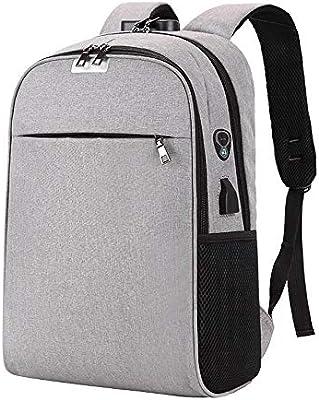 Myzixuan USB Cargadores Laptop Mochila 15.6 Pulgadas Anti Robo Mujeres Hombres Mochilas para Colegio de niñas Adolescentes de Viaje Mochila Nylon