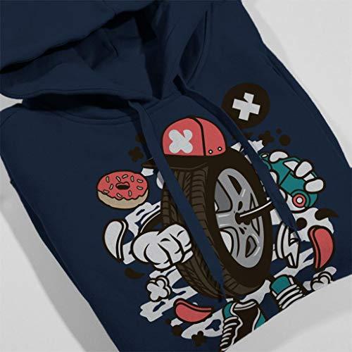 Women's Sweatshirt Coto7 Man Navy Wheel Blue Hooded nxwTEBHRFq