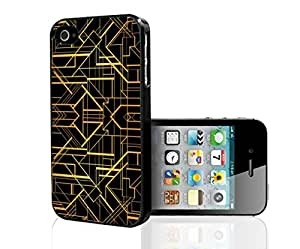Black and Gold Print Hard Snap on Phone Case (iPhone 5/5s)
