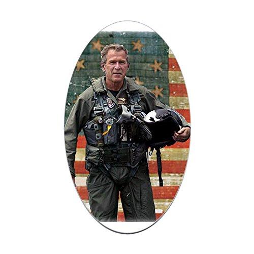 - CafePress George W. Bush Patriotic Oval Sticker Oval Bumper Sticker, Euro Oval Car Decal