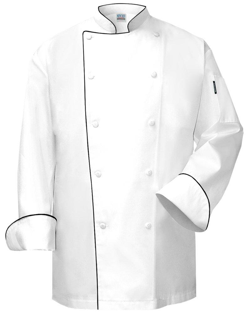 Newchef Fashion The Chef Coat White with Black Trim 2XL White by Newchef Fashion