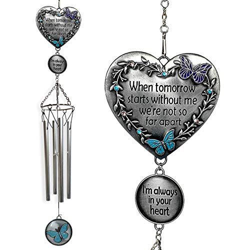 BANBERRY DESIGNS Memorial Windchimes Condolence - When Tomorrow Starts Without Me I