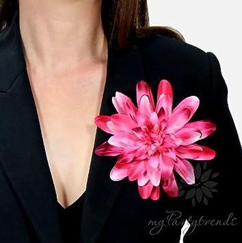Ansteckblume Pink Burgunderrote Dahlie Blumenbrosche
