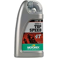 Motorex Top Speed 4T 10w40 Engine Oil, 33.8 Liquid Ounces (1 Liter), Ideal For Wet Multi-Disc Clutches