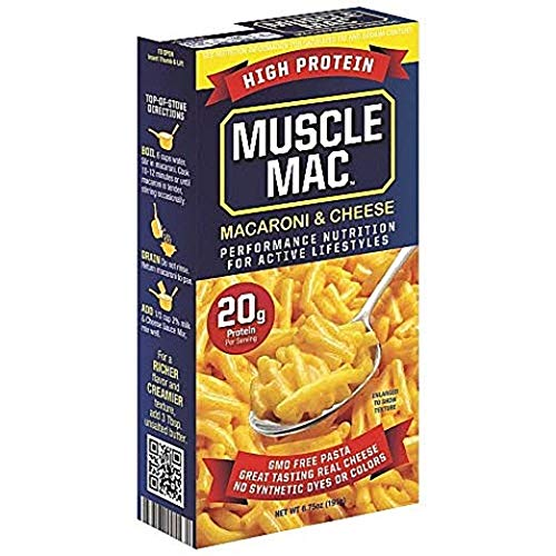 Muscle Mac   Macaroni and Cheese Pasta For All Ages, 20 Grams Of High Protein Per Serving, Real Cheese, Non-GMO, 24 Pack