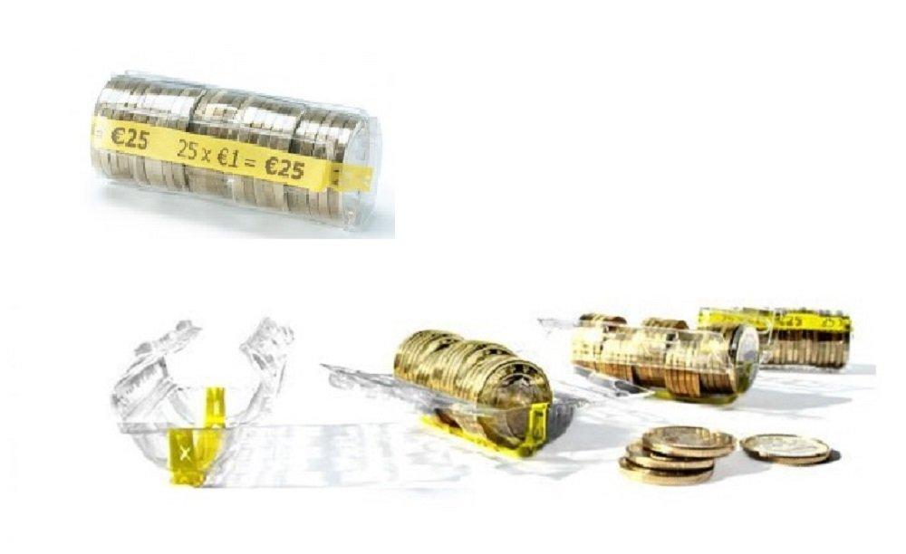 36f8a4c236 Blister per monete euro - kit 375 blister portamonete misti da 1 euro, 2  euro ingrandisci