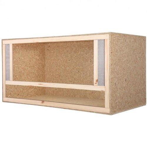 Repiterra Terrarium pour reptiles en panneau de bois 0SB avec aérations latérales, facile à monter, 100 x 60 x 60 cm