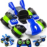 Force1 Skid Kid RC Drift Cart Remote Control Toy Car - 360 Spin and Drift RC Stunt Car w/ Tilting Wheels and Rechargeable Battery