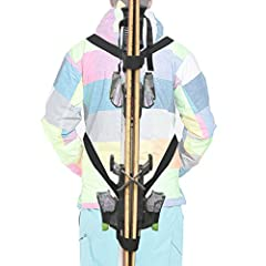 You are purchasing one backpack ski strap (ski and pole not cinluded). If your ski boards are very long, please intall it as B showed in Picture 2. Free your hand- Our backpack ski strap are created to hold both ski boards and poles. No more ...
