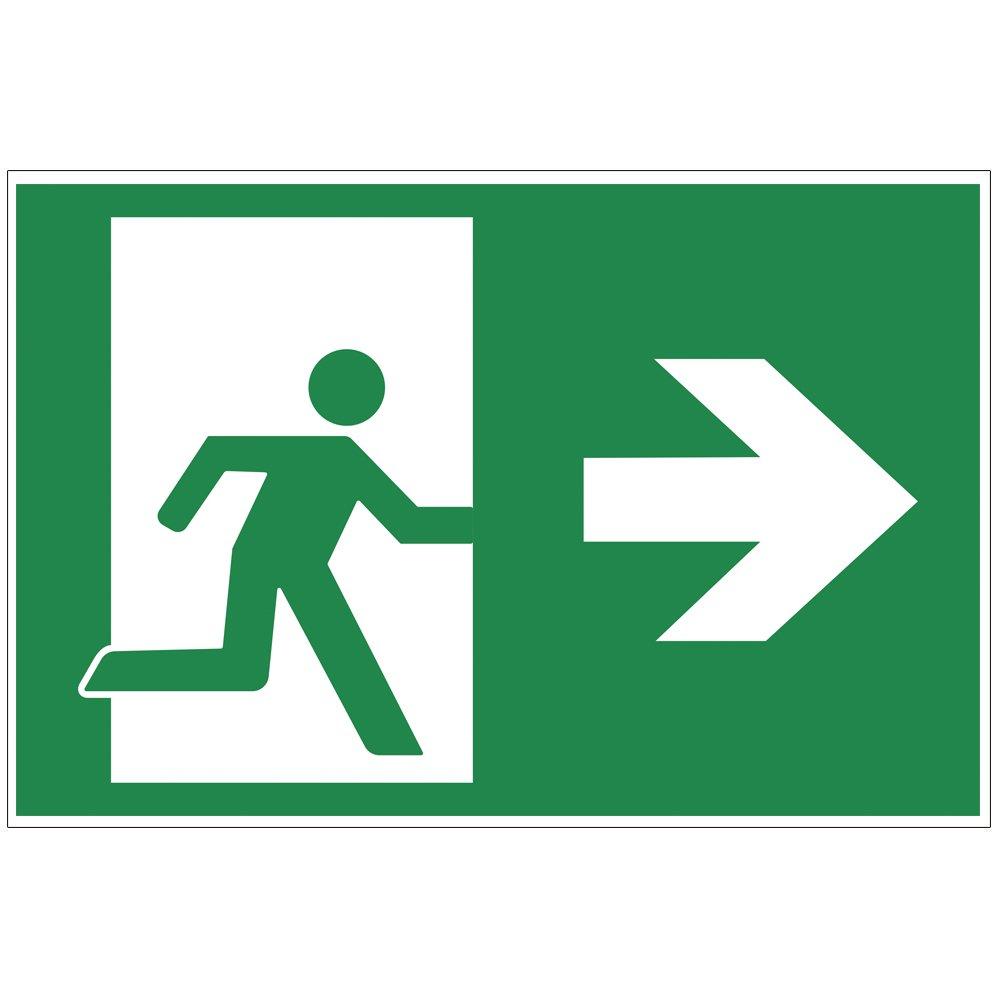 'Panneau sortie de secours –  Exit Plaque de mousse rigide en PVC 300 x 200 mm –  Droite 3 mm d'é paisseur geschenke-fabrik