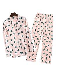 Fuka Big Girls/Teen Girls Cotton Cacti Sleepwear Long Sleeve Pajama Set
