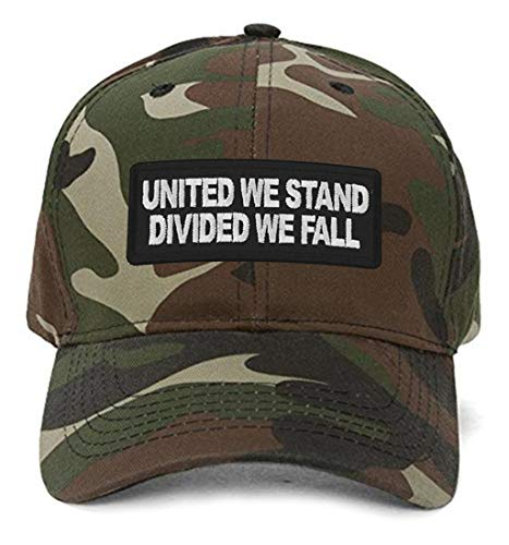 (United We Stand Divided We Fall Hat - Adjustable Cap (Camo))
