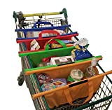 Easy Shop USA - Reusable Shopping Cart Trolley Bags -Compact - Foldable-Sturdy And Eco-Friendly - Easily Organize Groceries And Make Checkout A Breeze - FREE BONUS EBOOK WITH EVERY ORDER.