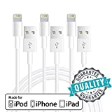 Sonxe Lightning Cable, 3Pack 3FT USB Charging and Syncing Cord Charger Lightning to USB Charging Cable for iPhone 7 / 7 Plus / 6s / 6s Plus / 6 / 6 Plus / 5 / 5s / 5c, iPad mini / Air / Pro / iPod touch