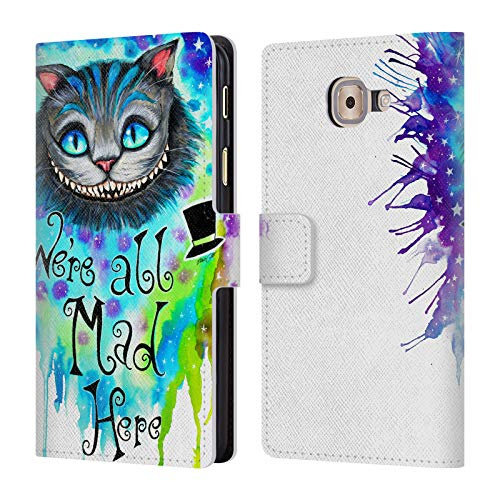 (Official Pixie Cold We are All Mad Here Cats Leather Book Wallet Case Cover for Samsung Galaxy J7 Max)
