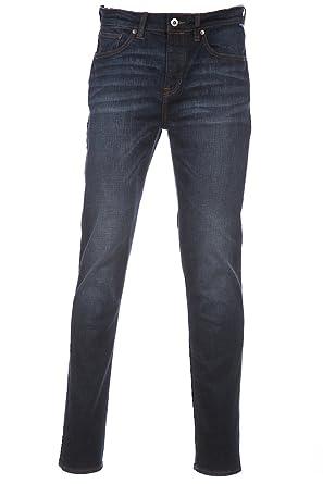 Pretty Green Men's Erwood Slim Fit Jeans, Blue (6 Month Wash), W30