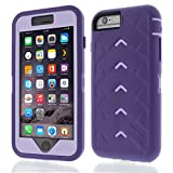 Apple iPhone 6 Plus Drop Tech Dark Purple Light Purple Gumdrop Cases Silicone Rugged Shock Absorbing Protective Dual Layer Cover Case