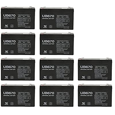 Lithonia ELB0607 Replacement Rhino Battery - 10 Pack