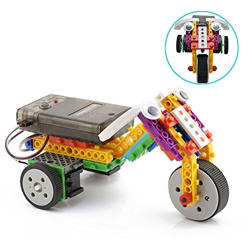 Boy Toys STEM Robot Kit Building Toys Remote Control Building Kits for Teen/Girl/Boy Gifts Building Blocks Construction Set Build Your Own RC Machines 123 Pieces by PACKGOUT (Image #1)