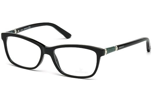 720c8ec61c SWAROVSKI Eyeglasses SK5158 001 Shiny Black 55MM at Amazon Men s ...