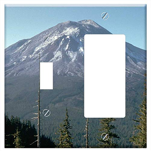 1-Toggle 1-Rocker/GFCI Combination Wall Plate Cover - Mount St Helens Volcano Mountain St Helens ()