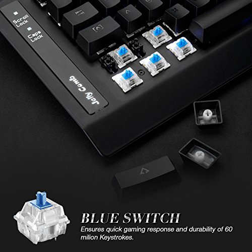 51N1tKMWAYL - Mechanical-Keyboard-Jelly-Comb-87-Key-Mechanical-Gaming-Keyboard-with-Blue-Switch-Multy-Key-Rollover-Ensure-Accurate-Gaming-CommandsBlack