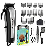 Beautural Professional Cordless Pet Grooming Clipper Kit, Low Noise Rechargeable Dog and Cat
