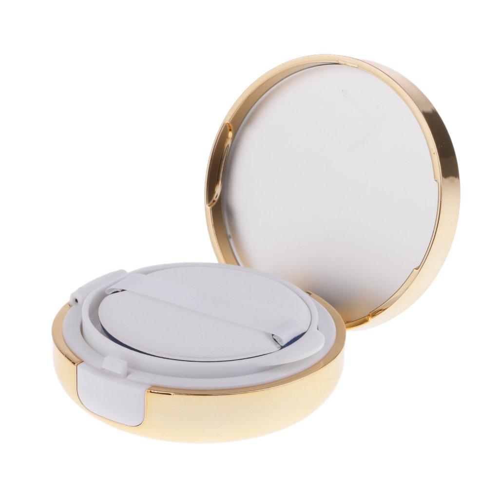 MagiDeal 15g Leere Nachfüllbare Pulver Puff Box Air Kissen BB / CC Creme Liquid Foundation Container mit Schwamm Puff - Gold 0020009960012ESA