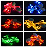 Senhui 6 Pairs LED Nylon Shoelaces Light Up Shoe Laces with 3 Modes in 6 Colors Flash Lighting the Night for Christmas Dancing Cycling Hiking Skating Disco Party Favors Supplies (B style)
