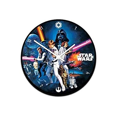Vandor 99089 Star Wars 13.5  Cordless Wood Wall Clock, Multicolor