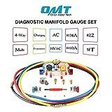 4 Way AC Diagnostic Manifold Gauge Set for Freon