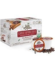 Super Organics Cardio Support Coffee Brew Cups With Superfoods & Probiotics | Keurig K-Cup Compatible | Cardiovascular Health | Medium Roast, USDA Certified Organic, Vegan & Fair Trade Coffee, 72ct