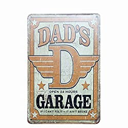 Jewh Dad's BBQ Best Meat Retro Plaque Wall Decor for Bar Pub - Kitchen Home Vintage Metal Poster Plate Metal Signs Painting Plaque (18)