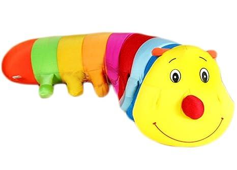 Amazon.com: Lindo arco iris Caterpillar almohada muñeca bebé ...
