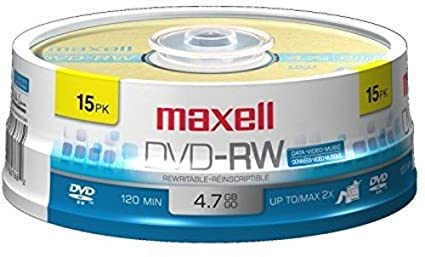 Amazon.com  Maxell 635117 Rewritable Recording Format 4.7Gb DVD-RW Disc  Playback on DVD Drive or Player and Archive High Capacity Files  MAXELL   Home Audio ... 0b82e0458c433