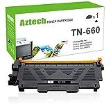 Aztech 1 Pack TN 660 TN 630 High Yield Compatible for Brother TN660 TN-660 TN630 TN- 630 Toner Cartridge