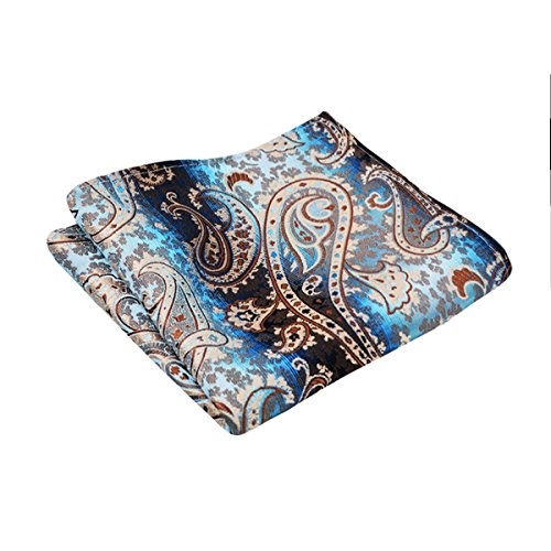 Mens Champagne Set Hanky Paisley with Necktie Floral Tie Alizeal vxwSdTqS
