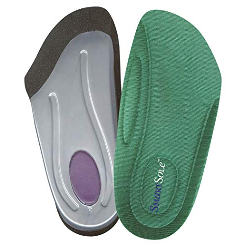 (SmartSole Exercise Insoles for Plantar Fasciitis, Flat Feet and Shin Splints Relief. Anti Fatigue Walking, Running and Overpronation Insoles - 3/4 Length Arch Support Shoe Inserts for Women & Men )