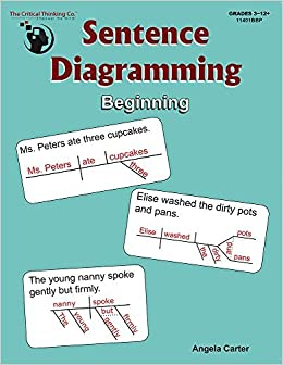 Sentence diagramming beginning breakdown and learn the underlying sentence diagramming beginning breakdown and learn the underlying structure of sentences grades 3 12 angela carter 9781601448538 amazon books ccuart Gallery