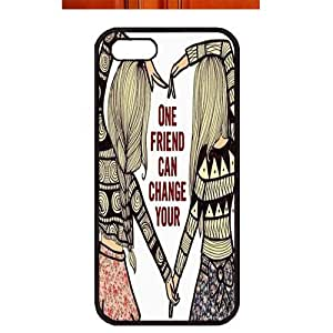 Case For Htc One M9 Cover ,fashion durable black side design phone case, pc material phone cover ,with two Friends .