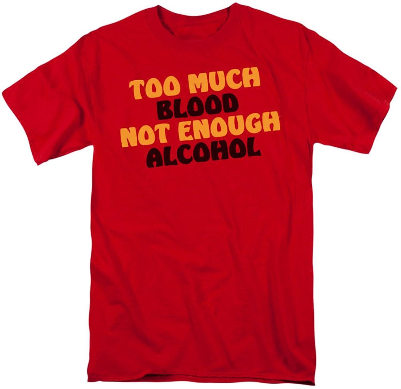 Funny Tees - Mens Not Enough Alcohol T-Shirt