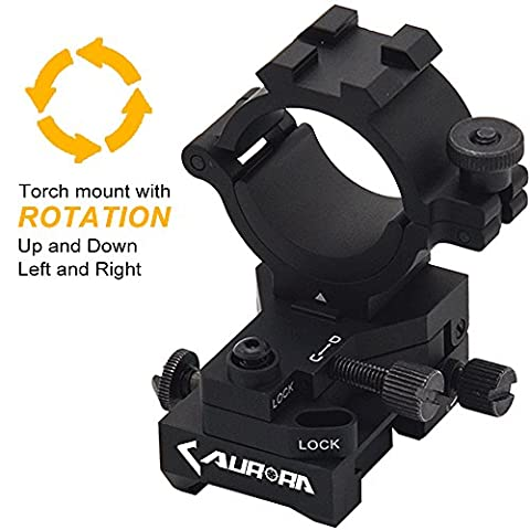 Windage Elevation Adjustable Picatinny Weaver Rail Mount and Barrel clamp Adaptor hold with 1