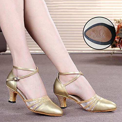 Zapatillas Salsa Moda Para Latino Zapatos Medio Baile Mujer 3 De Salón Tacón Performance wRxz0xHq