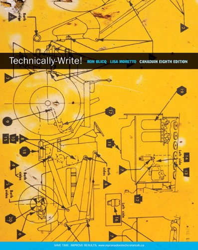 Technically-Write, Eighth Canadian Edition with MyCanadianTechCommLab (8th Edition)