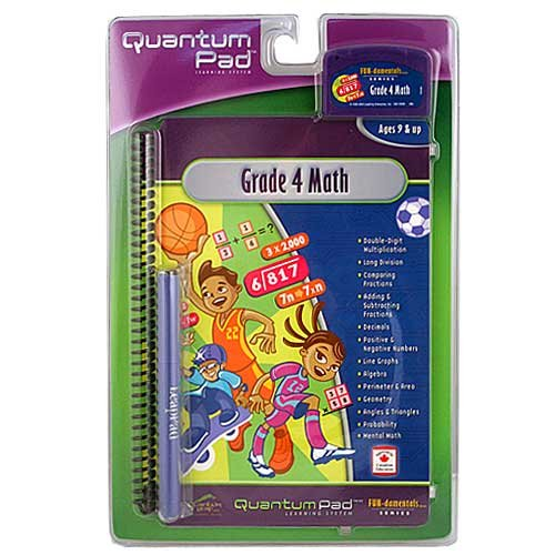 LeapFrog Quantum Pad Grade 4 Math w/Cartridge - For LeapPad Learning Systems