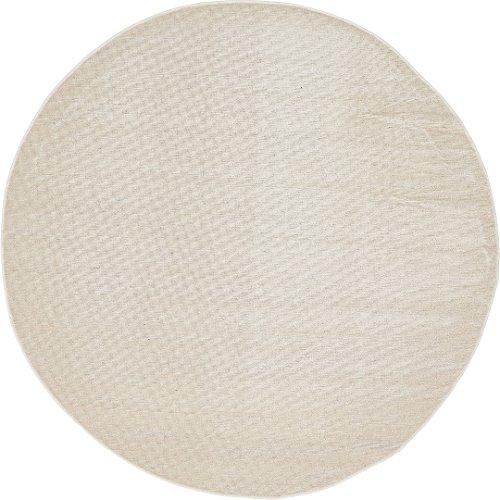 A2Z Rug Modern Caen Collection Rugs Beige 5' -Feet-Round Area rug